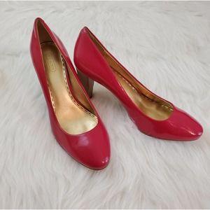 Coach Sheri Sz 9.5 Pink Patent Leather Heels